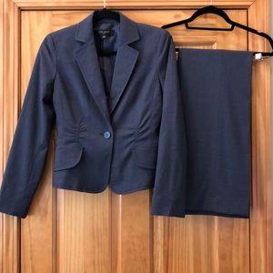 Nine West Denim Blue 2pc Blazer & Pant Suit